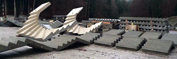 B timent escaliers pr fabriqu s for Escalier prefabrique